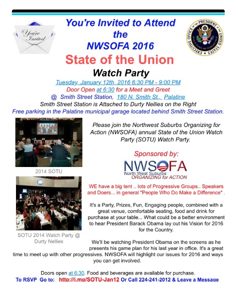 State Of The Union Watch Party Flier