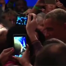 Kathy Talking with President Obama at OFA Summit